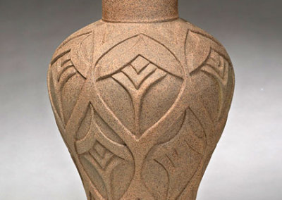 Gail Carlson: Vase, 2012. Carved clay vase, $475.