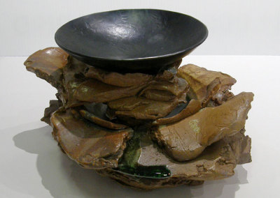 The Offering (Daryl Richardson & Ken Wilkinson), 2013: Clay, glass, & metal. $850