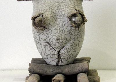 Untitled (Charley Farrero), 1983: Stoneware; Raku fired. $83