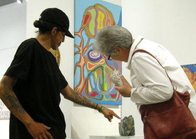 Guests admiring work