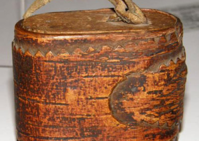 Oval Lidded Birch Bark Container - Artist Unknown