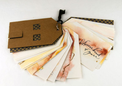 The Threshold, the Hearth and the Book (Gail Stevens), 2013: Calligraphy