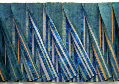 Anna Hergert, Summer Day at the Lake: Dawn to Dusk: Cotton fabric, cotton thread, metallic threads; piecing, machine quilting. 2011, $3,995.