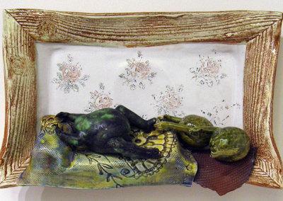 Siesta Tropical (Charley Farrero), 1998: Porcelain; Hand built, slip cast. $395