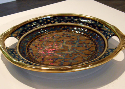 Platter with Handles: Mel Bolen, Clay, glazes