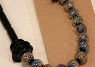Fire Opals, Shauna Mitru, 2011, Borosilicate glass, soda lime glass with encased 24k gold leaf