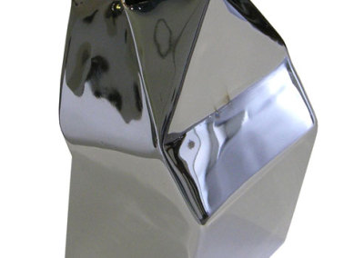 MILK (M. Craig Campbell), 2013: Steel, chrome; forged and fabricated. NFS