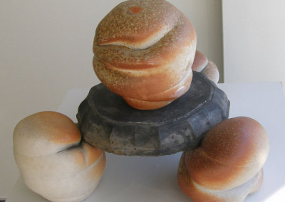 Aux Trois Magots (Charley Farrero), 2008: Stoneware; wood fired. $150