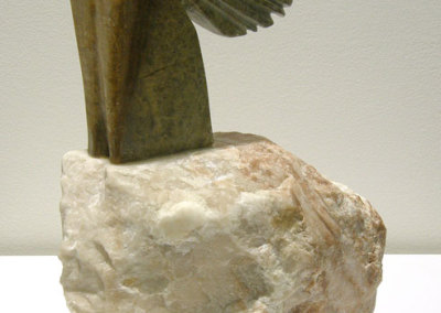 Two of Eight (Lee Baker), 2011: Soapstone, alabaster. $1,200