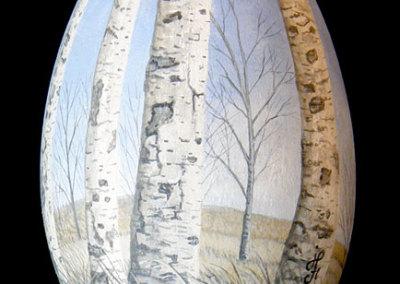 Prairie Bluff: Joan Foulston, Acrylic paint, goose egg
