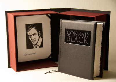 Conrad Black: A visual biography told in 100 wood engravings (George Walker), 2013: Artists' Books