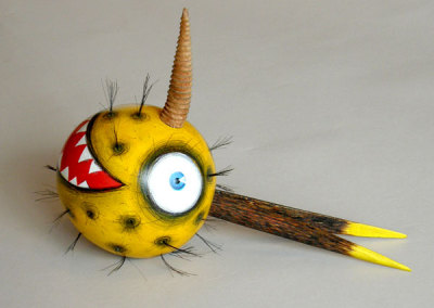 Rattle by Michael Hosaluk, Collection of Lou Paquette