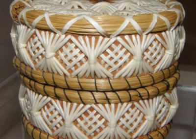Round Birch Bark Basket - Jean Mishibimyiss