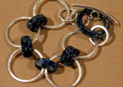 Links, Shauna Mitru, 2011, Soda lime glass & sterling silver