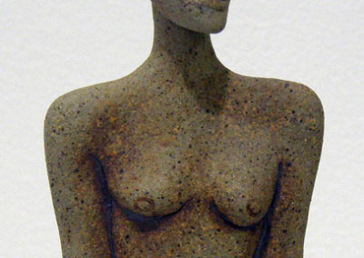 Small Figurine (Anita Rocamora), 1984: Stoneware; Hand built. Private Collection