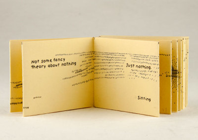 Next to Nothing (Jody Williams), 2012: Artists' Books