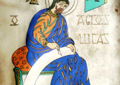Luke 2 - Illumination page on deerskin vellum