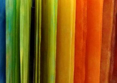 Snow-Dyed Silk Chiffon Scarves