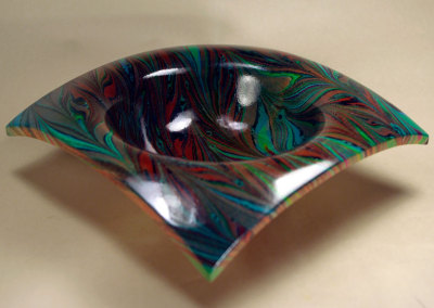 Marbled Square Bowl