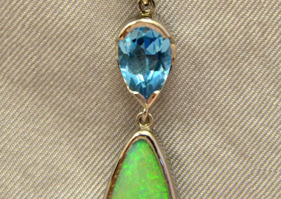 Peridot Topaz Opal Pendant