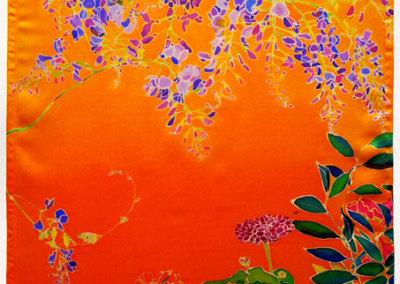 Garden in Orange Sunset Light Panel, 2012. LED Light panel, ink-jet printed silk satin, velcro, $1,100.