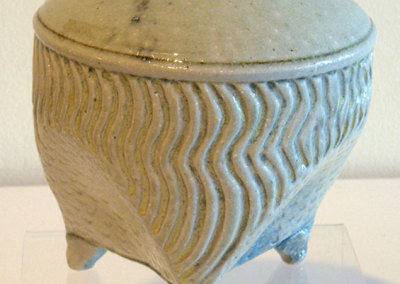 Salt Fired Triangular Vase: Mel Bolen, Clay, glazes, salt 2011
