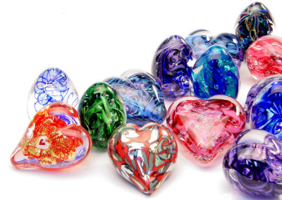 Egg and Heart Paperweights