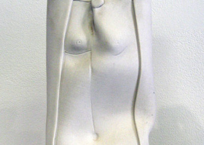 Figure Vase (Anita Rocamora), 1984: Porcelain; Hand built. Private Collection