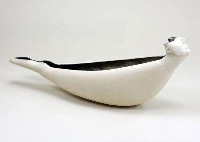Life Boat (Anita Rocamora), 2012: Porcelain, oxides; Hand built. $350
