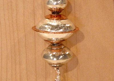 Baubles III (Copper), Shauna Mitru, 2011, Soda lime glass, sterling silver & copper