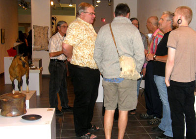 Mark Stobbe, Executive Director of the SCC chatting with Fine Craft patrons