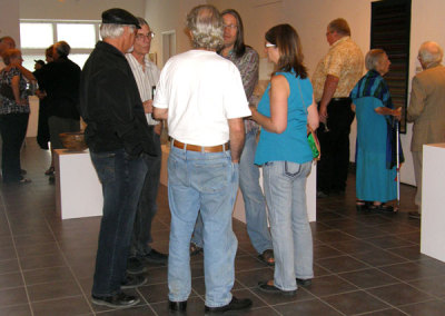 SCC members and Fine Craft patrons enjoying the exhibition