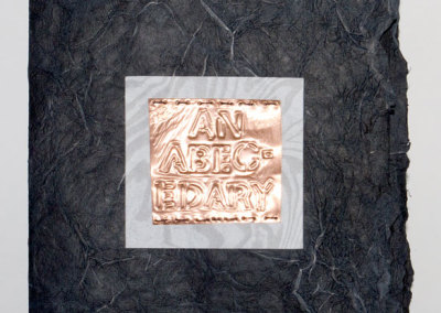 An abecedary (Lee Oldford Churchill), 2013: Artists' Books. Curator