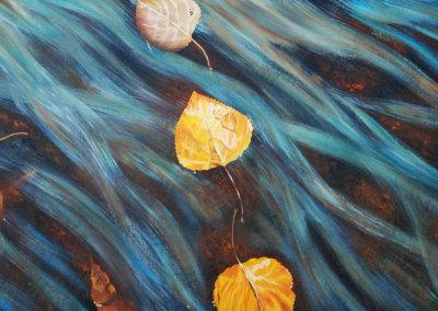 Leaves on Water II