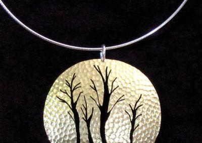 Brass Trees Piercework Pendant