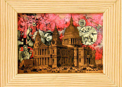 Daniel J. Kirk, Calgary, AB - St. Paul's Cathedral, 2012. Mixed media, $100