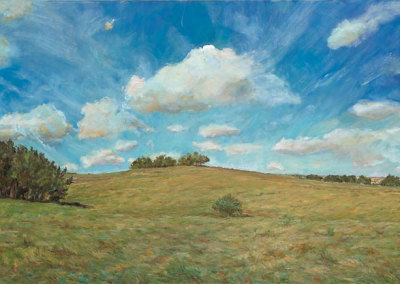 Ranchita Hill (Karen Holden), 2013: Oil on canvas. Collection of Gary & Brenda Freistadt