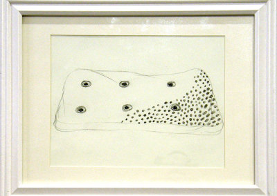 Neema Vaghela, Saskatoon, SK - Untitled, 2012. Charcoal pencil/buff paper, $460