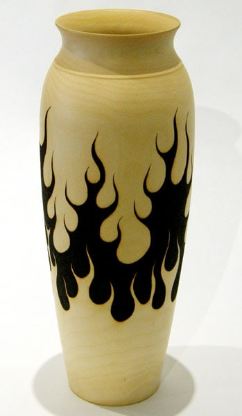 Bernie Bober, All Fired Up: Birch; turning, pyrography. 2013, $975.