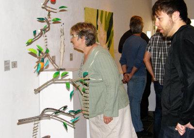 Taking a closer look at Anita Rocamora's sculpture Spring Fever and Juliane Deubner's mobile Forbidden Fruit