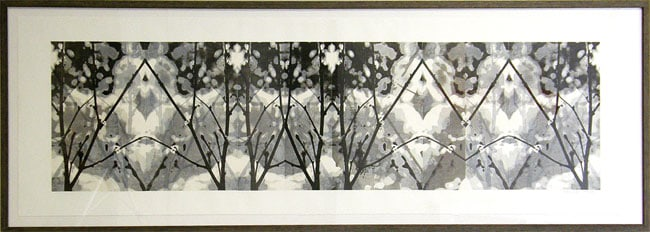 Rowan Pantel, Regina, SK - Betula Decoy, 2011. Ink, rice paper, chine collé, Private Collection