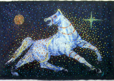 War Pony (Arnold Isbister) 2009: Acrylic on canvas. $2,400.