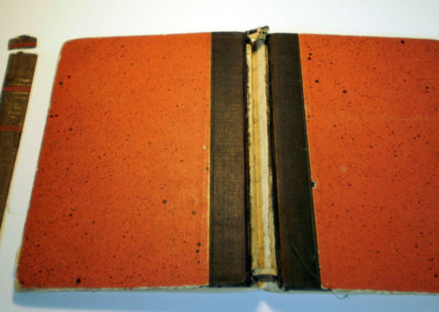 Book Repair of spine - Before