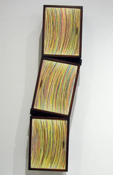 Hosaluk: Cabinet with Wedges - 2009, Baltic birch plywood, maple, copper, brass, acrylic. $2,200
