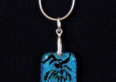 Blue Nightingale Dichroic Gladd Pendant