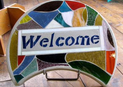 Mosaic Welcome Stone