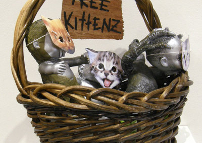 Jasmine Orr, Edmonton, AB - Free Kittens, 2012. Mixed Media, $500