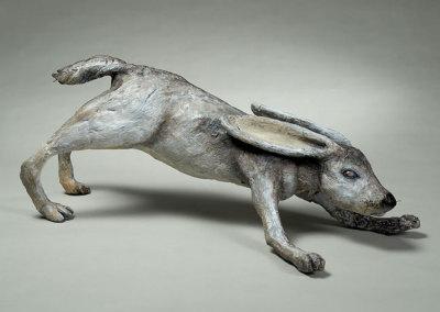 Anita Rocamora: Last Headlight, 2013. Ceramic sculpture, $850.