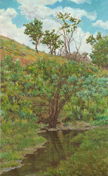 Wanuskewin (Karen Holden), 2013: Oil on canvas. $3,000