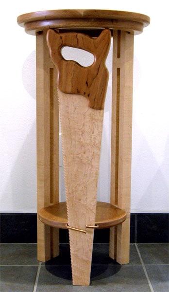 Howard Nixon, Bad Day in the Shop: Cherry, Birds Eye Maple, Walnut. 2012, NFS.